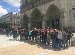 Des élèves du collège Saint-Martin à Paris