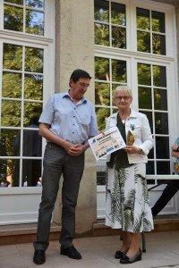 Marie-Claude Heugue a reçu la médaille de la Jeunesse et des Sports