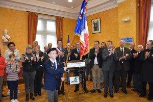 Tim Cousin, porte drapeau auxiliaire du Souvenir français