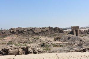 Le mur de briques séchées