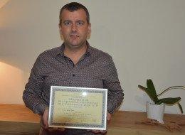 Jérémy Lenoir reçoit la Médaille Or de la Jeunesse, des Sports et de l'engagement associatif